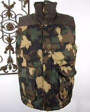 LRG CLOTHING EQUIPMENT PUFFY FULL ZIP VEST SIZE XL, MILITARY PRINT