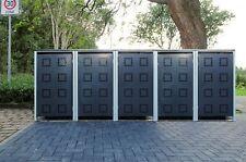 5 Mülltonnenboxen Modell No.5 Anthrazitgrau für 240 Liter Mülltonnen