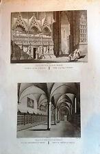 CATALUÑA, POBLET.Laborde, grabado original 1806 a 1820