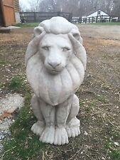 Large Lion King 120#s CEMENT STATUE CONCRETE Lawn Garden Decoration Ornament