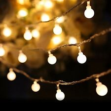 10M 100LED Ball Bulb String Lights Fairy Party Xmas Wedding Indoor&Outdoor Decor