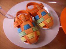 Scarpina sandalo CHICCO arancione neonato tg. 15 Euro 14,90 in stoffa!