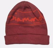 Diamond Supply Co. Knitted Cuffed Slouch Beanie Cap Hat Mens Dark Red NWT