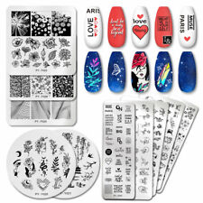 PICT You Nail Stamping Plates Line Nail Art Plate Pictures Stencil Stainless Ste