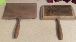 Clemes & Clemes Wool Carding Combs Pair, Curved Back