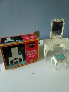 Vintage Pedigree Sindy Dressing Table Stool no  Accessories with box