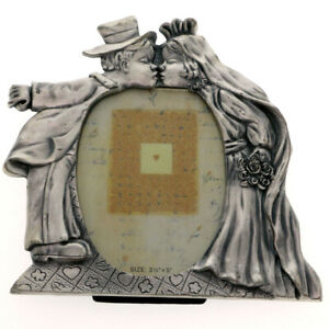 Mi Amore 3 1/2x4 1/2 Wedding Picture-Frame Pewter