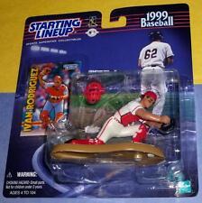1999 IVAN RODRIGUEZ Texas Rangers -FREE s/h new catcher pose Starting Lineup