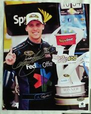 DENNY HAMLIN SIGNED AUTOGRAPH 8x10 NASCAR RACING PHOTO SMC COA
