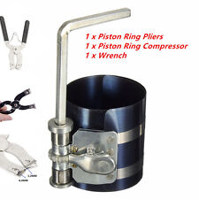 3''Piston Ring Compressor W/ Installer Ratchet Plier Remove Expander Engine Tool