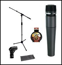 Shure SM57-LC Vocal Microphone Bundle with Mic Boom Stand + XLR Cable