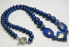 cadeau d'anniversaire !  lapis lazuli bleu égyptien collier de perles 45cm