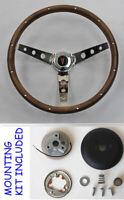 "New 1964-1966 Pontiac Grand Prix LeMans Wood Steering Wheel walnut 13 1/2"""