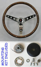 New 1964-1966 Pontiac Grand Prix LeMans Wood Steering Wheel walnut 13 1/2""