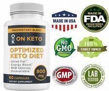 Keto Diet Pills BHB Salts Exogenous Ketones Weight Loss Fat Burner Supplement