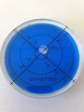 5 x Blue Bullseye Spirit Levels Large Round Circular Bubble Vial 65mm Caravan