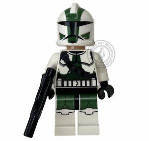 LEGO Genuine Minifigure Star Wars Clone Commander Gree From 9491 - sw0380