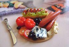 1 dolls house miniatures food salumi  tray maison de poupée Dolls house fimo^^