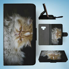 SAMSUNG GALAXY NOTE 9 FLIP CASE WALLET COVER|PERSIAN CAT 2