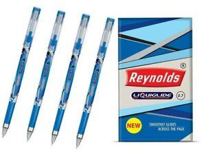 10x Reynolds LIQUIGLIDE Ball Pen BLUE | 0.7 mm |Ultra Fine Writing |Stylish body