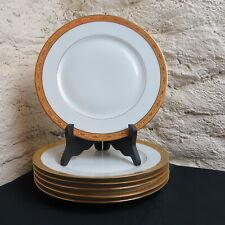 RAYNAUD LIMOGES 6 assiettes plates en porcelaine décor ambassador Gold LOT 2