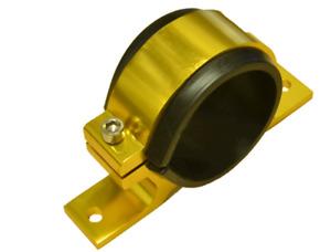 60mm Billet Fuel Pump Bracket in GOLD for WALBORO BOSCH SYTEC pumps **NEW**