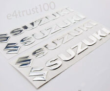 1 Set Chrome 3D Gel Fuel Gas Tank Emblem Badge Fairing Decal Stickers For Suzuki
