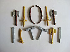 Custom ELVEN WEAPONS LOT for Lego Minifigures 12 pcs LOTR Castle Axe Bow Sword
