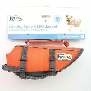 Outward Hound Granby Splash Life Jacket Size XS 5-15lbs Orange Dog Pet Jacket