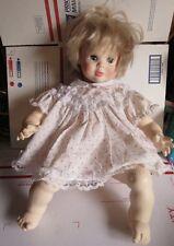 """Suzanne Gibson 1977 Baby Doll Platinum Blonde 22"""" Sleepy Eyes"""