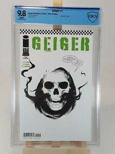 Geiger #1 3rd Print Variant White Cover Image Comics CBCS 9.8 Tough Grade!