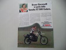 advertising Pubblicità 1979 MOTO YAMAHA XT 500 ENDURO e BRUNO GIACOMELLI