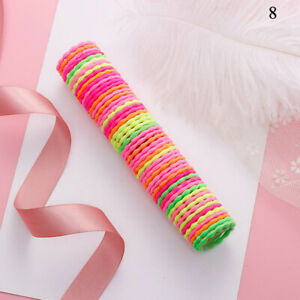 50pcs Elastic Rubber Girl Hair Ties Band Rope Ponytail Holder Fashion Scrunchie