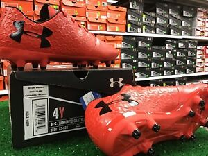 Under Armour Magnetico Select FG Jr Soccer Cleats Red / Black Size 4y NIB