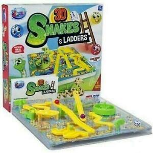 3D Snakes And Ladders Kids Childrens Board Game Traditional Family Toy Present