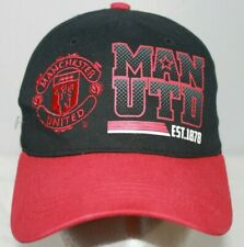 Manchester United Soccer Football Black Red Baseball Hat Cap Strapback
