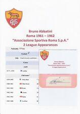 Bruno Abbatini ROMA 1961-1962 RARO Originale Autografo Taglio/Card