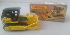 Lesney Matchbox 64 Caterpillar Bulldozer Black Roof Boxed