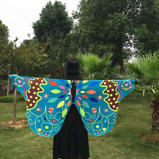 Women's Fabric Butterfly Wings Shawl Fairy Nymph Pixie Show Costume Accessory AU