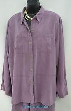 Alfred Dunner 2pc pant Suit set moleskin blouse shirt elastic Pants SIZE 20 NEW