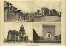 1906 San Francisco Buildings Before The Fire, Shanties On Nob Hill, City Hall