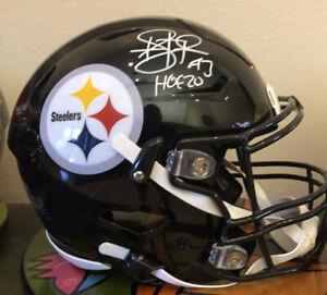 HOF Troy Polamalu Pittsburgh Steelers Riddell Speedflex Signed Football Helmet