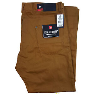 SOUTHPOLE MEN'S BIG AND TALL BULL TWILL STRAIGHT CARAMEL PANTS  (Size 44-52)