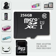 256GB MICRO SD CARD CLASSE 10 TF FLASH MEMORY MINI SDHC SDXC Adattatore-Free