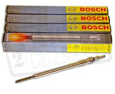 Bosch Heater Glow Plugs x 4 Fits VW Golf MK5 2.0 TDI 2003- BKD AZV Engines