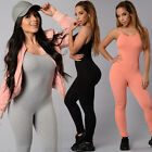 New Women V Neck Long Sleeve Bodycon Bandage Bodysuit Jumpsuit Slim Long Romper