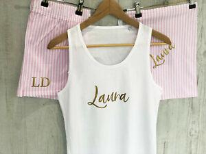 Personalised Pyjama, Personalised PJs, personalised pyjamas, gift for her Pink
