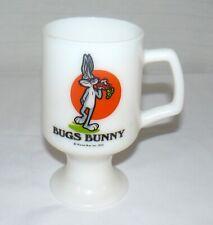 1975 Bug's Bunny 8 oz. Milk Glass Marriott's Great America Pedestal Mug Cup WB