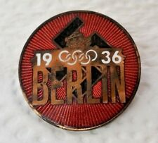 1936 Berlin Olympic PIN BADGE  ( 2.5cm ) - Original & Rare - WW2 ERA