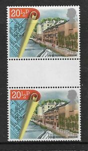 1984 GB Urban Renewal - Gutter Vertical Pair - Mint and Never Hinged.